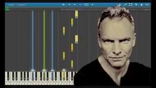 Sting - Shape of my heart. How to Play. Sheet Music. Пианино уроки.