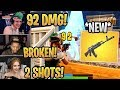 Download Streamers First Time Using *NEW* Heavy AR (AK-47)! *BROKEN* - Fortnite Best and Funny Moments