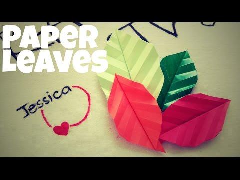 DIY - Cách gấp lá cây bằng giấy
