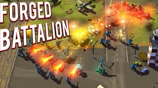 CUSTOMIZABLE UNITS! CREATE YOUR OWN FACTION! LIKE COMMAND AND CONQUER FORGED BATTALION GAMEPLAY