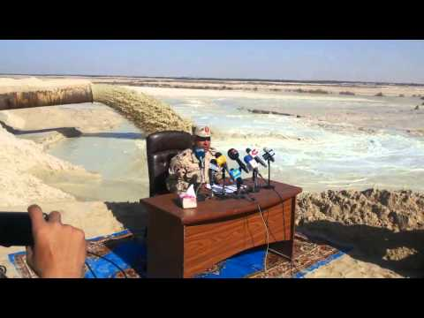 New Suez Canal: scenes of drilling in January 20151