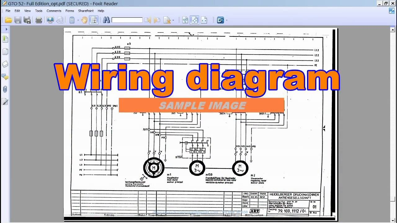 GTO 52 PAC Electric diagrams  YouTube