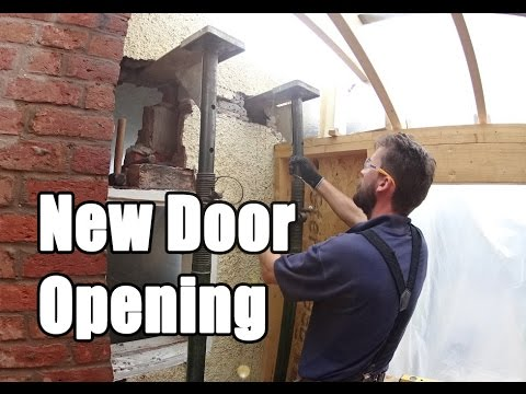 Cutting a door opening in a solid wall Time lapse - cutting a door opening in an exterior wall
