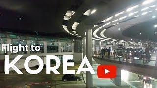 Flight to Korea / Asia Winter Trip 2017 #1