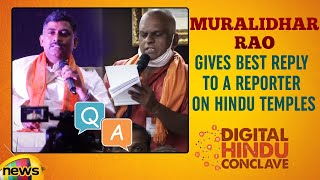 Muralidhar Rao Gives BEST REPLY To A Reporter On Temples | Digital Hindu Conclave LIVE | Bharat Niti
