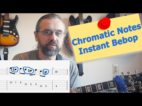 Chromatic passing notes - Instant Bebop Jazz Guitar lesson!