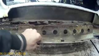 ремонт порогов дна ваз 2112