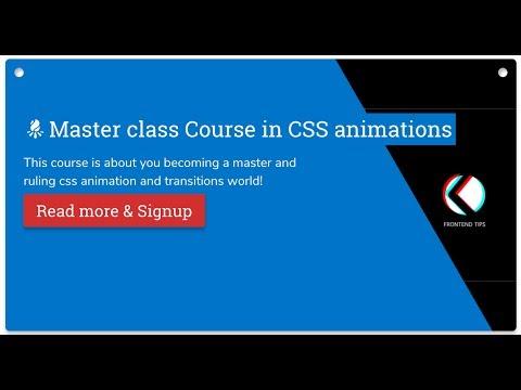 Episode 3: SVG Elastic menu navigation animation and AN Announcement