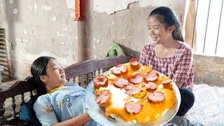 Chị Trang oz Làm Bánh Pizza ❤ Thay Mẹ Dạy Dỗ Các Em - Trang Vlog
