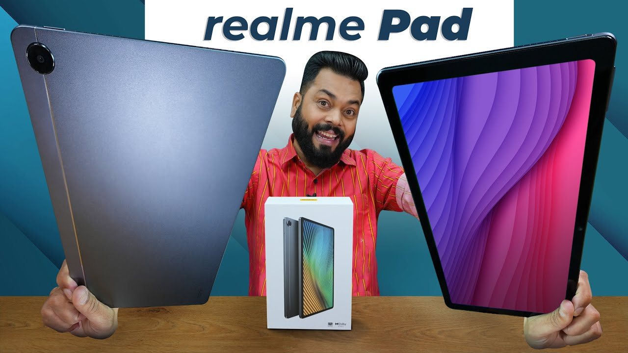 """realme Pad Unboxing & First Impressions ⚡ 10.4"""" Screen, MediaTek Helio G80, 7100mAh & More"""