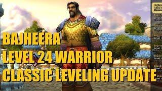 Bajheera - Classic WoW Level 24 Warrior Update: Gear, Talents, Professions, Leveling Path