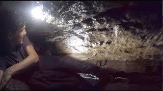 SQUEEZING through TINY CAVE!