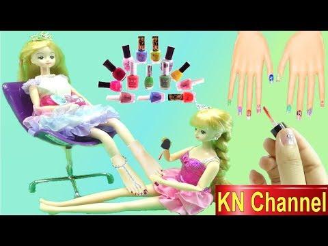 Trò chơi KN Channel BÚP BÊ HÀN QUỐC SƠN MÓNG CHÂN MÓNG TAY GIÚP CHỊ NAIL PAINT