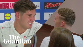 'Come on lad, get out': Kieran Trippier crashes John Stones press conference