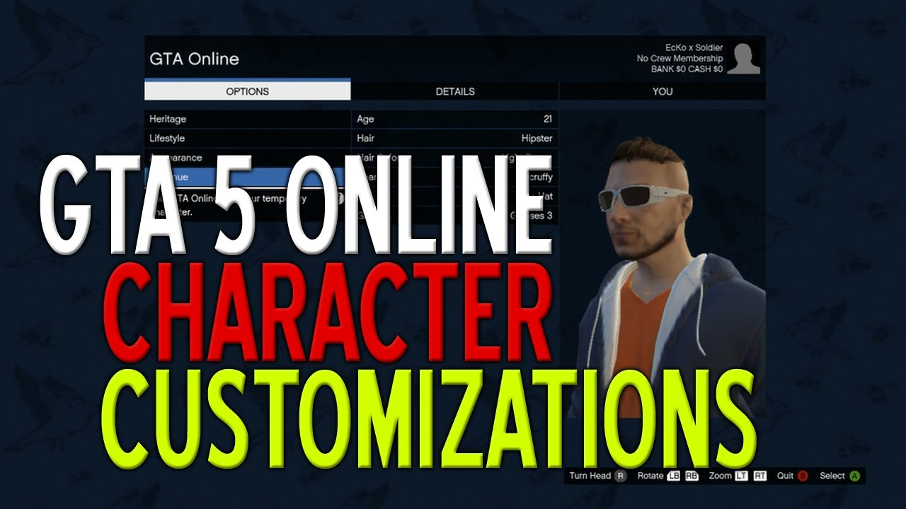 Gta 5 online character creation customizations tutorial gtav gta 5 online character creation customizations tutorial gtav youtube voltagebd Images