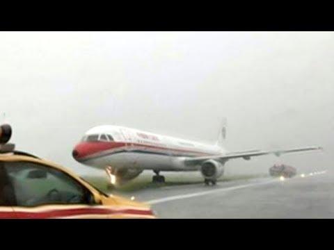 China Eastern jet skids off runway at Hong Kong airport