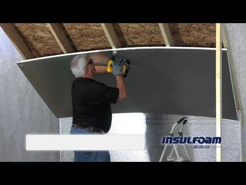 R Tech Insulation In An Attic Or Ceiling Application Youtube