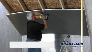 R-TECH Insulation in an Attic or Ceiling Application