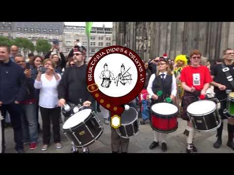 Flashmob Köln 5.8.2017 Pipes & Drums
