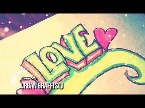 como dibujar un graffiti de amor | como hacer un graffiti ...