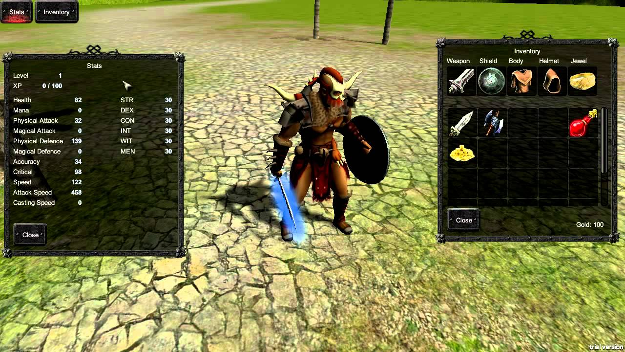 Unity3d RPG Character inventory