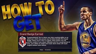 nba 2k17   how to get the shot creator grand badge best method 2 2