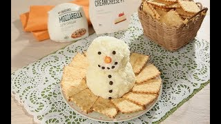 Снеговичок из кремчиза и моцареллы