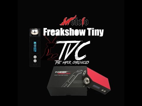 FreakShow Tiny 60W Temp Control  Box Mod By Wotofo Review On TVC