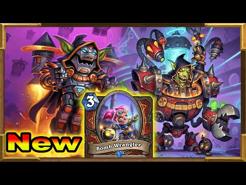 Hearthstone: New Bombs Control Warrior With Double Dr. Boom And Bomb Wrangler | Descent Of Dragons