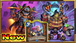 Hearthstone: New Bombs Control Warrior With Double Dr. Boom and Bomb Wrangler   Descent of Dragons