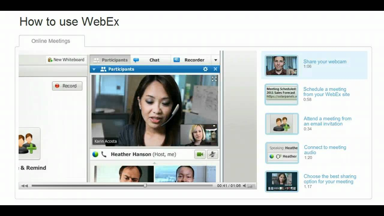 How to use WebEx