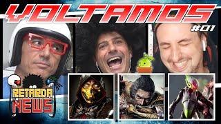 Retarda News GAMES VOLTOU #1 - Mortal Kombat 11, Sekiro, Anthem, Divsion 2, Kingdom Hearts 3