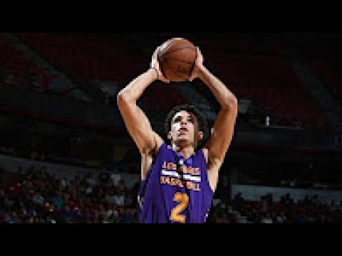 Lonzo Ball On FIRE! Records 2nd Triple Double 16p, 10r, 12a of Summer League Full Highlights