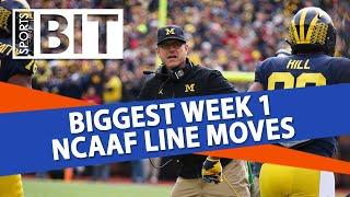 Biggest Week 1 NCAAF Line Moves | Sports BIT | NCAAF Picks