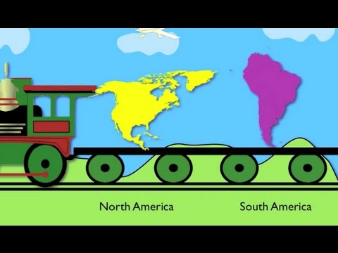 Learning for kids : Continent Train