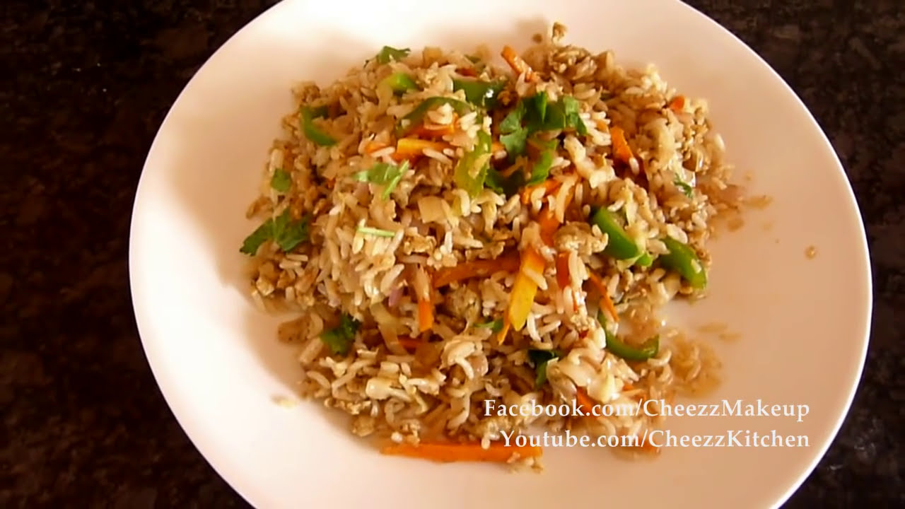 Spicy Egg Fried Rice - Chinese Style - YouTube