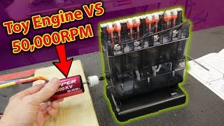 Can this Toy Engine take 50,000 RPM?? (BOOM?)