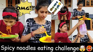 SPICY NOODLES EATING CHALLENGE 🤯🥵