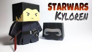 Kylo Ren Star Wars Paper Crafts tutorial !