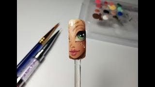 How to draw a doll / Как да нарисувате кукла /Nail Art Tutorial