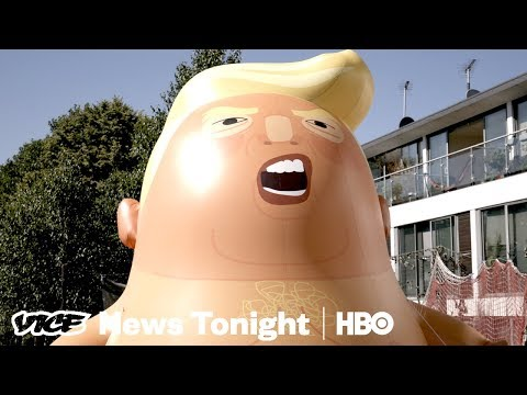What The Protests In England Against Trump Looked Like (HBO)
