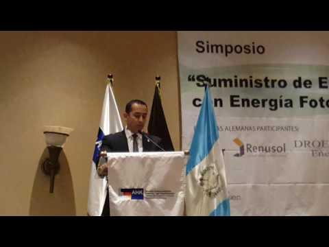 Ministro de Energia de Guatemala Sr. Chang no Simpósio de Energia Fotovoltaica y Geotérmica