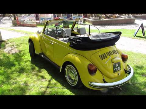 vw beetle convertible yellow @ nuenen 2013