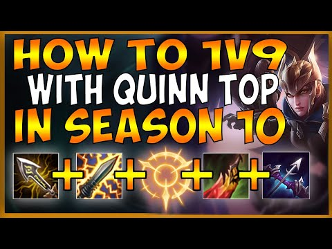 HOW TO CARRY LOSING TEAMMATES WITH QUINN TOP IN SEASON 10 (BEST QUINN META EVER) - League of Legends