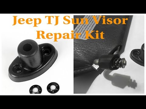 How to Fix Jeep TJ Sun Visor Broken Plastic Sun Visor Mount Using EBAY Mount Installation Kit