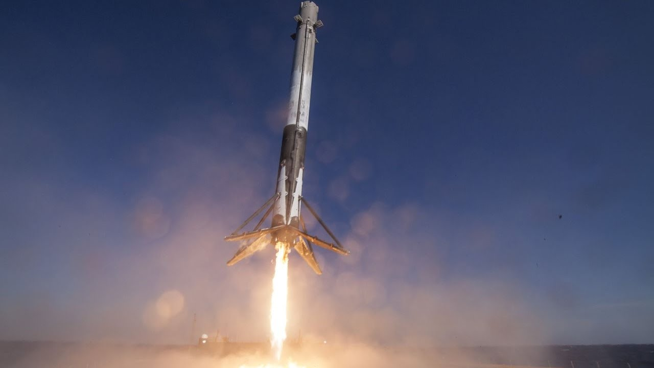 pouso do foguete falcon 9 spacex