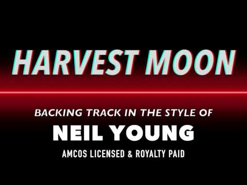Harvest Moon (in the style of) Neil Young MIDI MP3 Backing Track