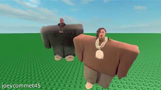 Lil Pump and Kanye West get trapped in the Roblox Universe