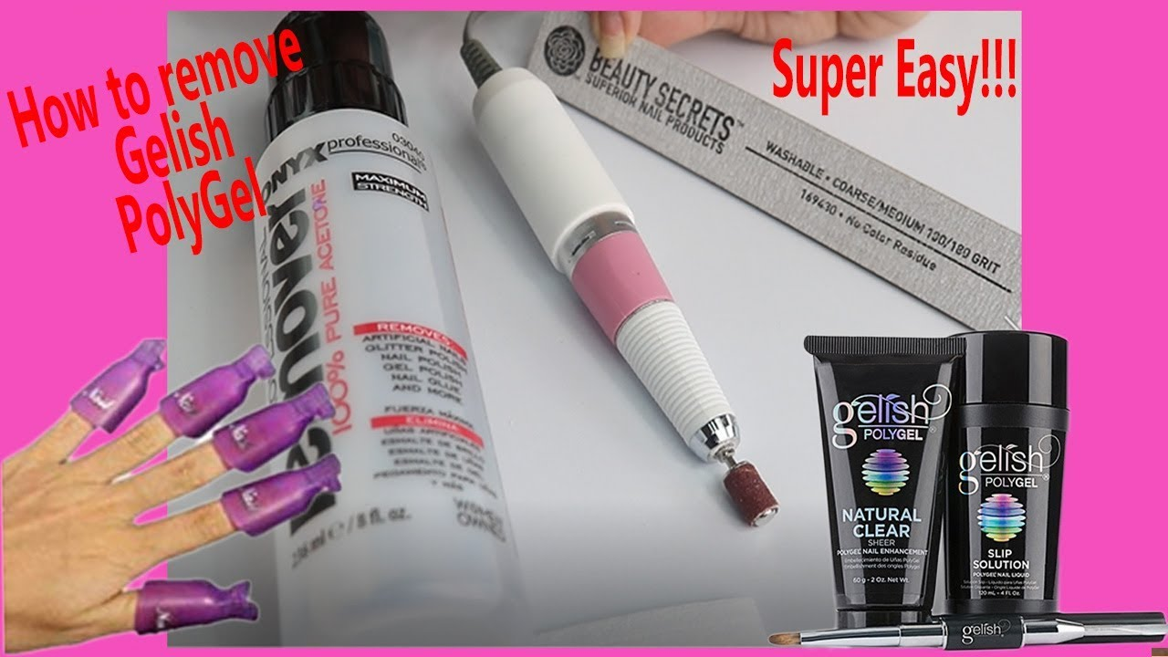 How To Remove Gelish Polygel 2 Methods Super Easy Youtube