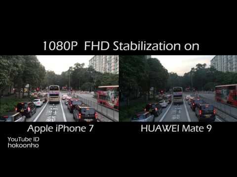 IPhone 7 Vs HUAWEI Mate 9 Video (4K/FHD Stabilization)